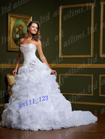 Elegant Two Pieces Beautiful Sweetheart Flower A-line Wedding Dress GownsElegant