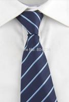 High Quality Men Narrow Necktie Neck Tie Zipper Zip Up twill checkered 08