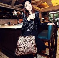 New 2014 Hot Sale Leopard Vintage White Collar Elegant Women's Messenger Bags Shoulder Brown Leather Handbags Clutch Fashion