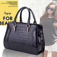 women handbag, European and American fashion crocodile handbag, high quality PU leather messenger bag wholesale, free shipping