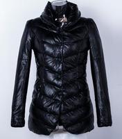 Hot Sale Fashion Goose Down Parkas Jacket Slim Winter Coat For Women M L XL