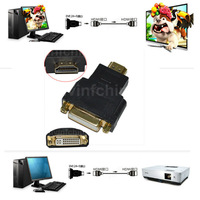 HDMI Male to DVI-I +5 Female Video Adapter Converter for HDTV DVD Free Shhipping