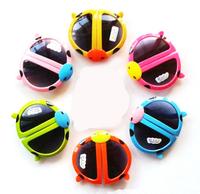 Free Shipping small wholesale 24pcs/lot children cartoon animal shape sunglass foldable ladybird beetle design baby eye glasses