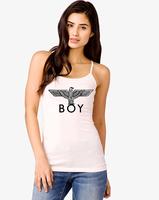 BOY London Punk Hot Black Letter Print Pattern Women's TANK t-shirt Vest  Tops For Women Plus Size S-XXL