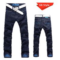 Wholesale Men's 2014 men's fashion casual jeans straight tide Korean Slim jeans long pants for men man