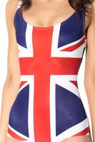 Union Jack British UK Flag one piece swimsuit leotard 038