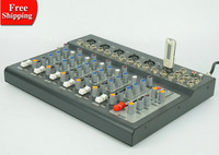 New F7 7 channels audio mixer with USB input LED display , sound console dj equipment mixer balanced power supply