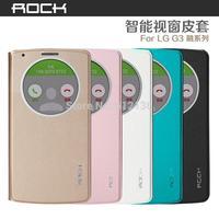 CASESSS_New Original Rock uni series smart sleep awake flip cover leather case for LG G3 D855 LG B2