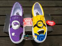 Slip On Vans Shoes for Men Women The Minions Despicable Me Hand Painted Canvcas Sneakers Vans Shoes