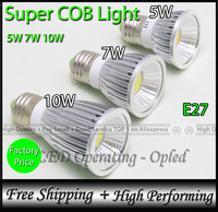 Super COB LED Lamp, 100% reflecting lighting (Bright but not Concentrated), Spot Light E27 Bulb Lamp 5W/7W/10W/15W/18W