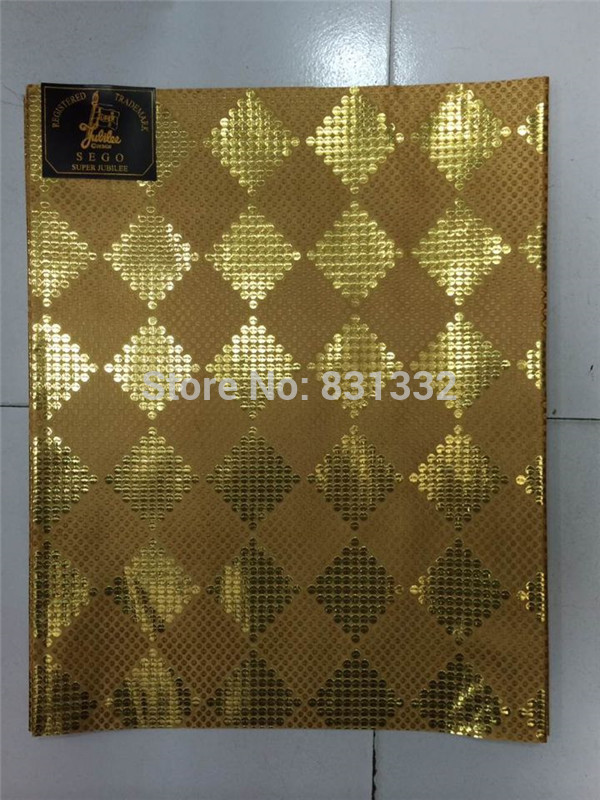 2015 African SEGO headtie, Gele&Ipele,Head Tie & Wrapper, 2pcs/set AMY2902E Gold color(China (Mainland))