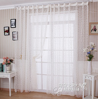 (Width 2M*Height 2.7M)/pcs Finished curtain yarn,Ready made beautiful curtain sheer,voile window screening 2 pieces a lot
