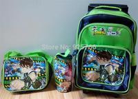 BEN 10 Spiderman Children Trolley School Bags Backpack +Small Bag+Pencil Box Mochilas Kids BOYS Cartoon Knapsack School Satchel