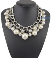 Christmas Gift Women Choker Necklace Fashion Jewelry Handmade Luxury Statement Imitation Pearl Necklace Free Shipping NB904014