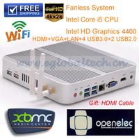 CPU Intel Core i5 4200U Fanless PC Windows Micro PC With 4GB DDR3 Ram 1TB HDD Support XBMC Living Room Mini Desktop Computer