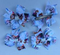 Hot Sale Wholesales 20pcs/lot Kids Headwear Baby Girl Hair Accessories Frozen Hair Clips Frozen Anna Elsa Cartoon Hairpin
