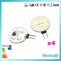 4PCS/lot High Brightness G4 LED Bulb Lamp, AC/DC 12V 3W SMD5630 Samsung LED Chips, Cabinets Car Light G4 LED 12V