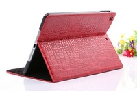 High Quality 1 PCS/Lot for Apple ipad 5 Air Fashion PU Leather Slim Case Cover Protective Shell Skin with Stand Crocodile Grain