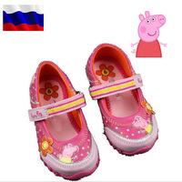 Girls Sneakers 2014 New Sring Summer Peppa Pig Children Shoes For Kids Girl Brand Designer Children's Paryty Shoe Sneaker