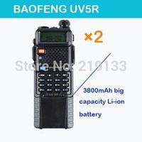 2pcs/lot radio comunicador BaoFeng UV 5R,Dual Band Vhf uhf baofeng uv-5r,SOS Bright Flashlight FM Radio+Free Earphone