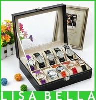 Luxury 10 watch box simulation of leather watch box