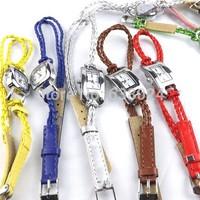 100pcs/lot wrap braided leather watch 10 colors woman fashion square quartz watch leather cheap wristwatch for lady