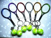 Free shipping 2014 new badminton keychain. New.