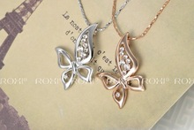 S PLUS delicate titanium jewlery new arrival butterfly necklaces fashion jewelrys for love gifts