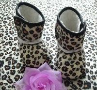 Cute Baby Leopard Cotton Snow Boots Infant Zebra Winter Crib Shoes First walkers Kids Prewalker Shoes 0/18M 6Pairs/lot Free Ship