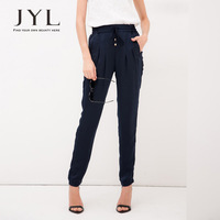 Trousers harem pants for women high waisted elastic low crotch pants women,european street style brand JYL women casual pants