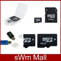 Memory cards Micro SD card Memory cards 64GB 32GB 16GB 8GB 4GB 2GB Microsd TF card Adapter + USB Reader+box