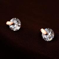 2014 New Sale Real Italina Earrings  for Women Genuine AAA Zircon  18K gold Plated   Enviromental #RA25513