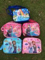 2014 new PVC kids Frozen bag frozen lunch bag children messenger lunchbags bolsa termica cartoon movie cooler bag lunch boxes