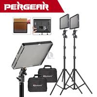 2pcs/lot  Aputure Amaran AL-528W 528pcs Upgraded Version CRI 95+ LED Video Light Photography Kit+2M Light Stand DSLR Camera DV