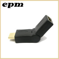 HDMI male to HDMI female cable adaptor converter extender 180 degree for 1080P HDTV