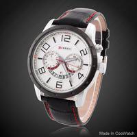 Military Watches Brand CURREN M8140 Luxury men Quartz Watch Round PU Leather Strap Analog Wristwatches Reloj Hombre Discount