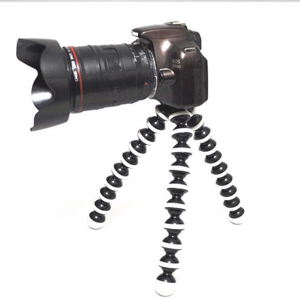 Digital Camera Large Tripod Stand 25cm Flexible Grip Octopus Bubble Pod Monopod Flexible Leg SLR DSLR(China (Mainland))