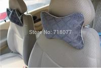 Hot New car pillow 2 pcs grade suede headrest 4s automotive interior car headrest pillow for neck support pillow  free shipping