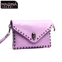 Fashion leisure shoulder inclined bag The new skull package genuine leather mini bag Single shoulder  women messenger bag