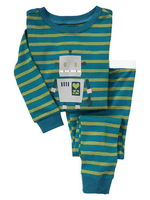 robot,Wholesale Baby Boys Girls Children pajamas,Pure Cotton long sleeve T-shirt+pant,casual homewear 6pcs/lot