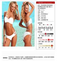 NWT Wholesale 1set Fashion Sexy Pure Bikini Sets Women Bikinis Set Women Swimsuit Set Swimwear Women High Waist Bikini Swimsuit