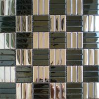 Construction mosaics tiles silver black stainless steel tile kitchen backsplash bathroom mirror shower tub walls decorative 11SF