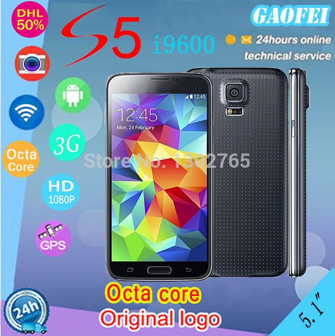 Perfetto 1:1 sensore di frequenza cardiaca s5 telefono logo originale mtk6592 octa core 16MP gps wifi 2g ram g900 i9600 telefono android 5,1 pollici