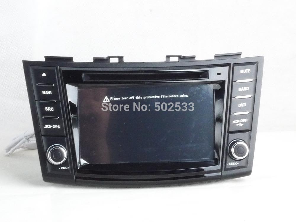 Free Map Rear View Camera + 8G SD Card + Suzuki Swift 2012-2014 Car DVD player GPS Navigation Bluetooth Ipod control Radio TV(China (Mainland))