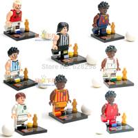High Quality Mini Figures Soccer Stars 8pcs/lot Building Blocks toys birthday gift Fast Free Shipping