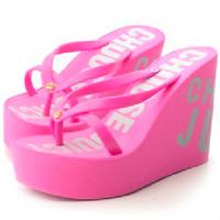 2014 new comfort sandals high heels sandal summer women flip flops female platform wedges slippers girl's fashion beach Shoes