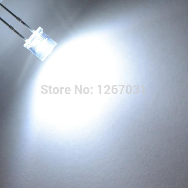 100pcs 5mm Flat top white Wide Angle Light lamp LED ultra bright bulbs emitting diode F5mm Free shipping(China (Mainland))