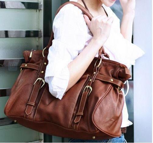 Hot Fashion Brand Luxury Women Casual Brown Leather Handbag Vintage Purse Elegant Ladies Travel Messenger Bags New Shoulder Bag(China (Mainland))