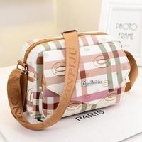 2014 Fashion Grid Printing Women Leather Handbag Vintage Purse Ladies Travel Messenger Bags,New Shoulder Bag Wholesale!