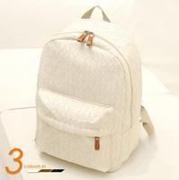 Hot Sale!2014 New Fashionn Women Canvas White Lace Student Shoulder Children Black School Bag Travel Sports Messenger Bags